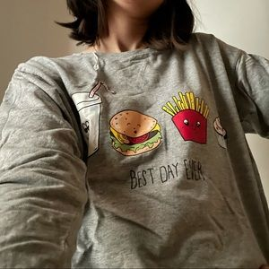 H&M  Divided Fast food graphic sweatshirt - s